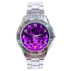 Abstract In Purple Stainless Steel Watch by FunWithFibro