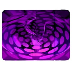 Abstract In Purple Samsung Galaxy Tab 7  P1000 Flip Case by FunWithFibro