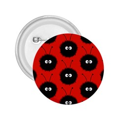 Red Cute Dazzled Bug Pattern 2 25  Button by CreaturesStore