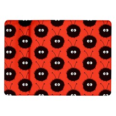 Red Cute Dazzled Bug Pattern Samsung Galaxy Tab 10 1  P7500 Flip Case by CreaturesStore