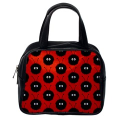 Red Cute Dazzled Bug Pattern Classic Handbag (one Side) by CreaturesStore