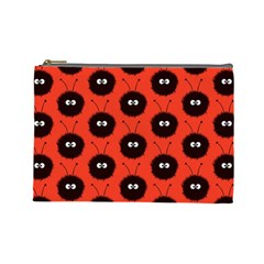 Red Cute Dazzled Bug Pattern Cosmetic Bag (large) by CreaturesStore