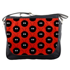 Red Cute Dazzled Bug Pattern Messenger Bag