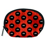 Red Cute Dazzled Bug Pattern Accessories Pouch (Medium) Front