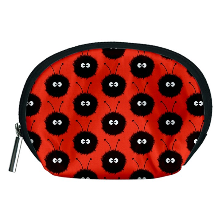 Red Cute Dazzled Bug Pattern Accessories Pouch (Medium)
