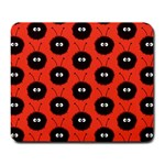 Red Cute Dazzled Bug Pattern Large Mouse Pad (Rectangle) Front