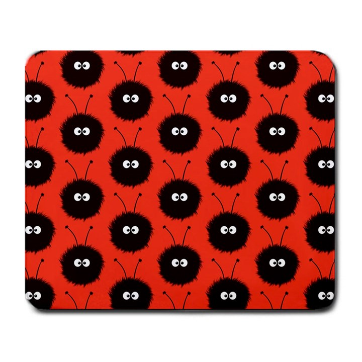 Red Cute Dazzled Bug Pattern Large Mouse Pad (Rectangle)