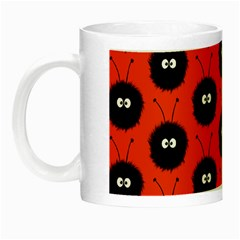 Red Cute Dazzled Bug Pattern Glow In The Dark Mug by CreaturesStore