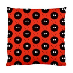 Red Cute Dazzled Bug Pattern Cushion Case (two Sided)  by CreaturesStore