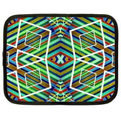 Colorful Geometric Abstract Pattern Netbook Sleeve (xl) by dflcprints