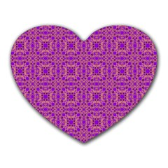 Purple Moroccan Pattern Mouse Pad (heart) by SaraThePixelPixie