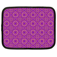 Purple Moroccan Pattern Netbook Sleeve (xxl)