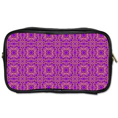 Purple Moroccan Pattern Travel Toiletry Bag (two Sides)