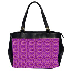 Purple Moroccan Pattern Oversize Office Handbag (two Sides)