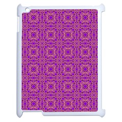 Purple Moroccan Pattern Apple Ipad 2 Case (white)