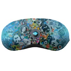 Led Zeppelin Iii Art Sleeping Mask by SaraThePixelPixie