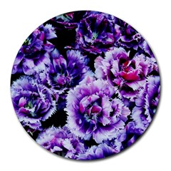 Purple Wildflowers Of Hope 8  Mouse Pad (round) by FunWithFibro