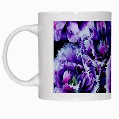 Purple Wildflowers Of Hope White Coffee Mug by FunWithFibro