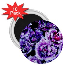 Purple Wildflowers Of Hope 2 25  Button Magnet (10 Pack) by FunWithFibro