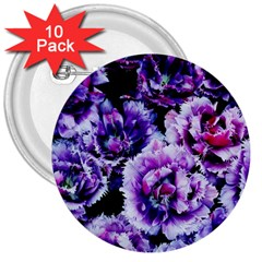 Purple Wildflowers Of Hope 3  Button (10 Pack) by FunWithFibro