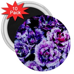 Purple Wildflowers Of Hope 3  Button Magnet (10 Pack) by FunWithFibro