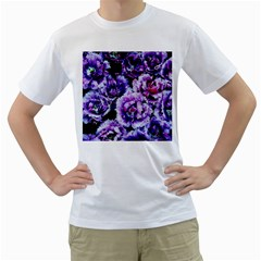 Purple Wildflowers Of Hope Men s Two Sided T Shirt (white) by FunWithFibro