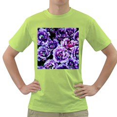 Purple Wildflowers Of Hope Men s T Shirt (green) by FunWithFibro