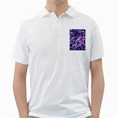 Purple Wildflowers Of Hope Men s Polo Shirt (white) by FunWithFibro