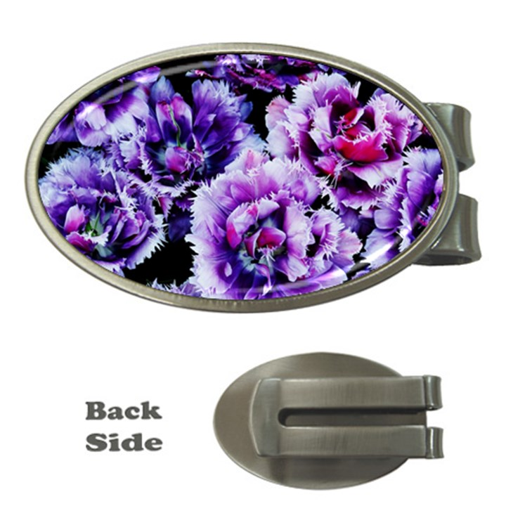 Purple Wildflowers Of Hope Money Clip (Oval)