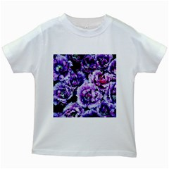 Purple Wildflowers Of Hope Kids T Shirt (white) by FunWithFibro
