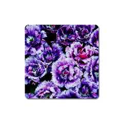 Purple Wildflowers Of Hope Magnet (square) by FunWithFibro