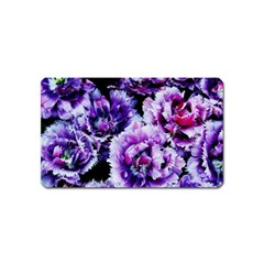 Purple Wildflowers Of Hope Magnet (name Card) by FunWithFibro