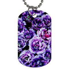 Purple Wildflowers Of Hope Dog Tag (two Sided)  by FunWithFibro