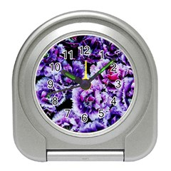Purple Wildflowers Of Hope Desk Alarm Clock by FunWithFibro