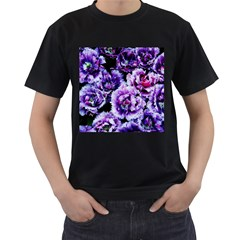 Purple Wildflowers Of Hope Men s Two Sided T Shirt (black) by FunWithFibro