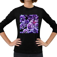 Purple Wildflowers Of Hope Women s Long Sleeve T Shirt (dark Colored) by FunWithFibro