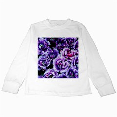 Purple Wildflowers Of Hope Kids Long Sleeve T Shirt by FunWithFibro
