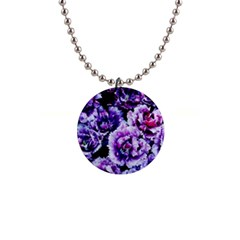 Purple Wildflowers Of Hope Button Necklace by FunWithFibro