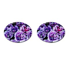 Purple Wildflowers Of Hope Cufflinks (oval) by FunWithFibro