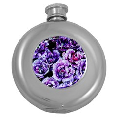 Purple Wildflowers Of Hope Hip Flask (round) by FunWithFibro