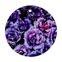 Purple Wildflowers Of Hope Round Ornament (two Sides) by FunWithFibro