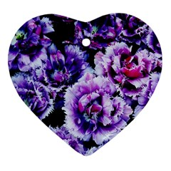Purple Wildflowers Of Hope Heart Ornament (two Sides) by FunWithFibro