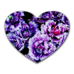 Purple Wildflowers Of Hope Mouse Pad (heart) by FunWithFibro