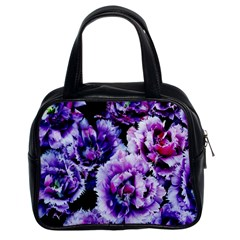 Purple Wildflowers Of Hope Classic Handbag (two Sides) by FunWithFibro