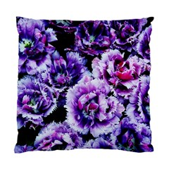 Purple Wildflowers Of Hope Cushion Case (two Sided)  by FunWithFibro