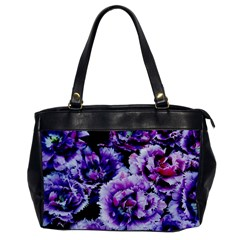 Purple Wildflowers Of Hope Oversize Office Handbag (one Side) by FunWithFibro