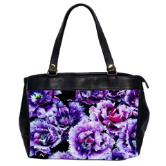 Purple Wildflowers Of Hope Oversize Office Handbag (two Sides) by FunWithFibro