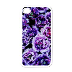 Purple Wildflowers Of Hope Apple Iphone 4 Case (white) by FunWithFibro