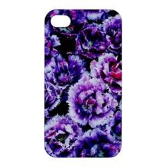 Purple Wildflowers Of Hope Apple Iphone 4/4s Premium Hardshell Case by FunWithFibro