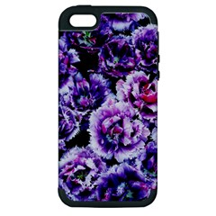 Purple Wildflowers Of Hope Apple Iphone 5 Hardshell Case (pc+silicone) by FunWithFibro